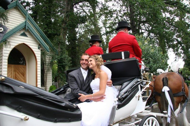 Bramleigh Estate Wedding Reception Horse Drawn Carriage