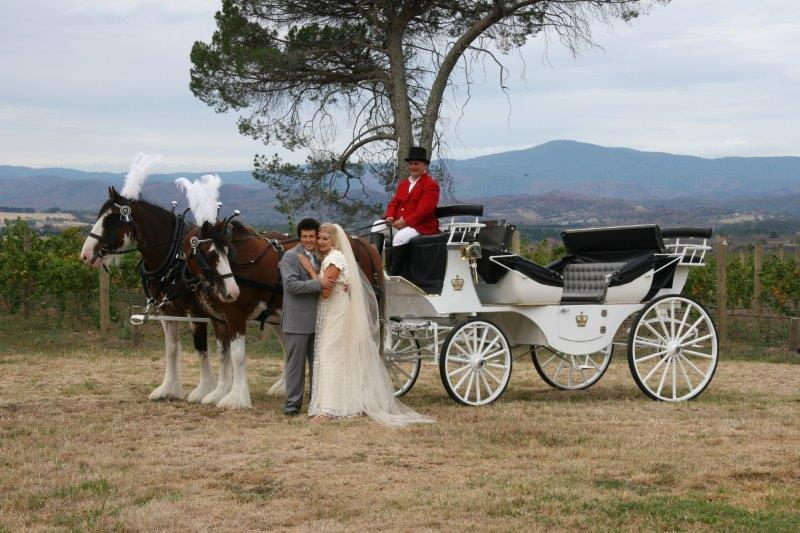 Stones Of The Yarra Valley Weddings Horse Drawn Carriage